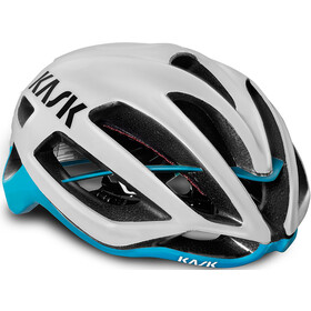 Kask Protone Fietshelm, white/light blue